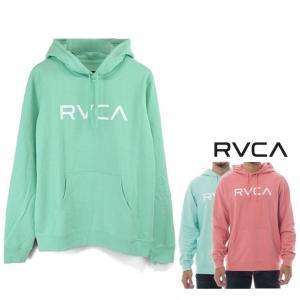 RVCA(ルーカ) ロゴ プルオーバー パーカー color:PNK(ピンク) MNT(ミント)|angland