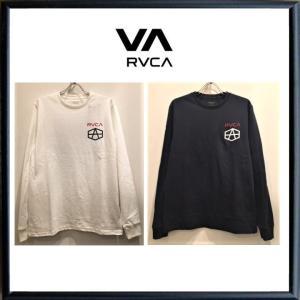 RVCA(ルーカ)フロント・バックプリント 長袖Tシャツ color(NVY)ネイビー・(WHT)ホワイト|angland
