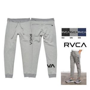 ★RVCA ルーカ ロゴ スウェットパンツ COLOR:グレー ブルー ブラック|angland