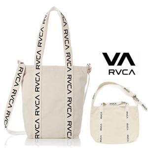 RVCA(ルーカ) ロゴ トートバッグ color:WHITE(オフホワイト)|angland