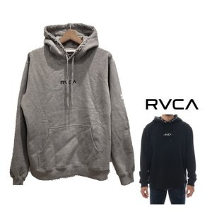 RVCA(ルーカ) フード&胸ロゴ P/Oパーカー color:GRH(グレー)|angland