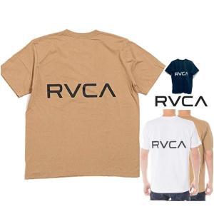 ★RVCA(ルーカ) バック ロゴ 半袖Tシャツ color:BEG(ベージュ) WHT(ホワイト) BLK(ブラック) angland