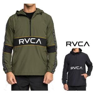 RVCA(ルーカ) ハーフジップジャケット color:OLV(オリーブグリーン)  BLK(ブラック)|angland