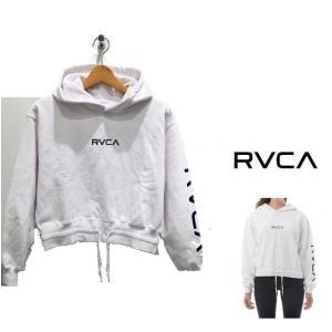 RVCA(ルーカ) ロゴ ショート丈 プルオーバー パーカー color:WHT(ホワイト) BLK(ブラック) BEG(ベージュ)|angland