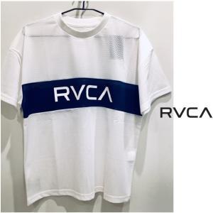 RVCA(ルーカ) メッシュ ロゴ OVERサイズ 半袖Tシャツ color:WHT(ホワイト) angland