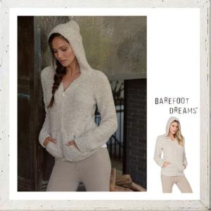 Barefoot Dreams(ベアフットドリームス)LADYS ZIPパーカー color:Stone-White(ホワイト)|angland