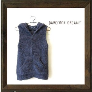 ★Barefoot Dreams  【ベアフット・ドリームス】 【COZY CHIC】SLEEVELESS HOODIE color【Slate Blue】ネイビー|angland