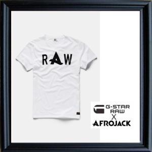 G-STAR RAW×アフロジャック 胸ロゴ 半袖Tシャツ Color:全6色|angland