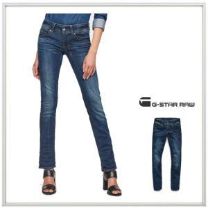 G-STAR RAW ストレッチ ストレートフィットデニム color:DK AGED(ブルー)|angland