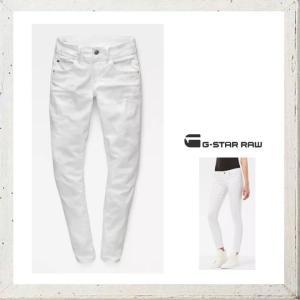 G-STAR RAW ジースターロウ SKINNY FIT ストレッチカラーパンツ color:OPTICAL WHITE(ホワイト)|angland
