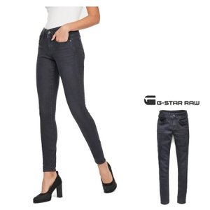 G-STAR RAW(ジースターロウ) Lynn Mid Waist Skinny Jeans スキニージーンズ color:Dark Aged(ダークグレー)|angland