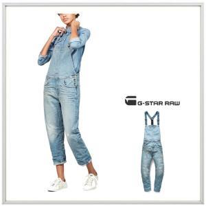 G-STAR RAW ボーイフレンドFIT サロペット・オーバーオール color: Vintage Medium Aged(ヴィンテージ・ブルー)|angland