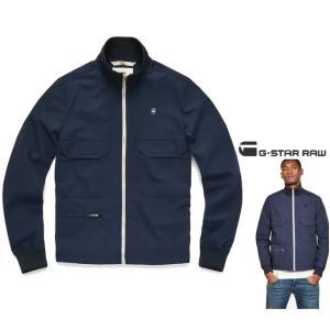 G-STAR RAW(ジースターロウ) スタンド ZIP OVER ジャケット color:Sartho Blue(ネイビー) angland