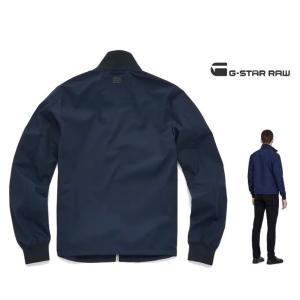 G-STAR RAW(ジースターロウ) スタンド ZIP OVER ジャケット color:Sartho Blue(ネイビー) angland 02