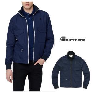 G-STAR RAW(ジースターロウ) スタンド ZIP OVER ジャケット color:Sartho Blue(ネイビー) angland 03