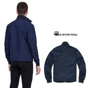 G-STAR RAW(ジースターロウ) スタンド ZIP OVER ジャケット color:Sartho Blue(ネイビー) angland 04