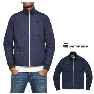 G-STAR RAW(ジースターロウ) スタンド ZIP OVER ジャケット color:Sartho Blue(ネイビー) angland 05