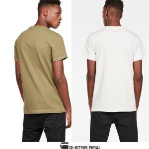 ★G-STAR RAW(ジースターロウ) 胸ポケット&ロゴ 半袖Tシャツ color:Milk(オフホワイト)|angland|02