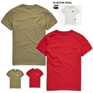 ★G-STAR RAW(ジースターロウ) 胸ポケット&ロゴ 半袖Tシャツ color:Milk(オフホワイト)|angland|03
