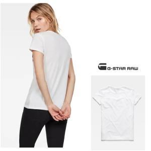 G-STAR RAW(ジースターロー) BIG-RAWロゴ 半袖 クルーネックTシャツ color:White/Sartho Blue(ホワイト×ネイビー)|angland|02