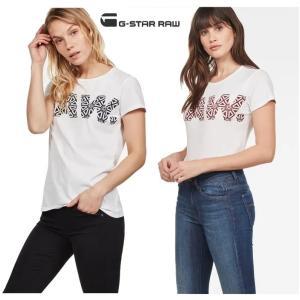 G-STAR RAW(ジースターロー) BIG-RAWロゴ 半袖 クルーネックTシャツ color:White/Sartho Blue(ホワイト×ネイビー)|angland|03