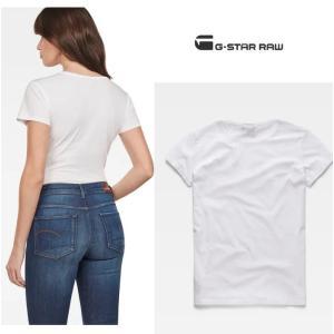 G-STAR RAW(ジースターロー) BIG-RAWロゴ 半袖 クルーネックTシャツ color:White/Sartho Blue(ホワイト×ネイビー)|angland|06