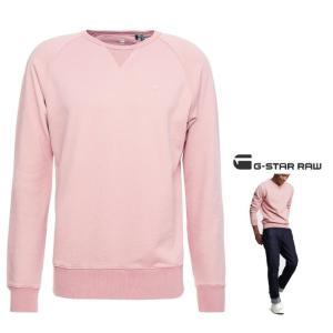 G-STAR RAW(ジースターロウ) Earth Core Raglan Sweater ラウンドネック スウェット  color:Dark Tea Rose(ピンク)|angland