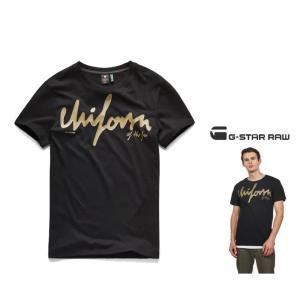 G-STAR RAW(ジースターロウ) Graphic 14 T-Shirt 胸ロゴ・半袖Tシャツ color:Dark Black(ブラック)|angland