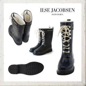 ILSE JACOBSEN ショート丈 レースアップラバーブーツ color:BLACK(ブラック)|angland|02