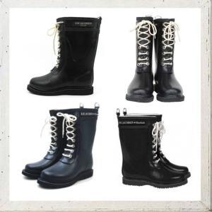 ILSE JACOBSEN ショート丈 レースアップラバーブーツ color:BLACK(ブラック)|angland|03