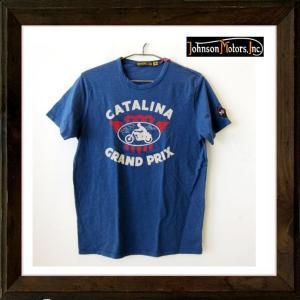 Johnson Motors ジョンソンモータース CATALINA GP 半袖 ロゴTシャツ color:BLUE(ブルー)|angland