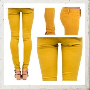 MAISON SCOTCH メゾンスコッチ Mid rise skinny fit スキニー カラーパンツ COLOR:YELLOW(イエロー)|angland|02