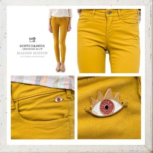 MAISON SCOTCH メゾンスコッチ Mid rise skinny fit スキニー カラーパンツ COLOR:YELLOW(イエロー)|angland|03