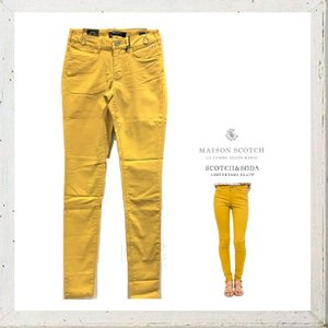 MAISON SCOTCH メゾンスコッチ Mid rise skinny fit スキニー カラーパンツ COLOR:YELLOW(イエロー)|angland|04