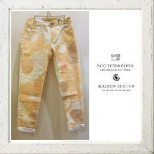 MAISON SCOTCH 花柄 綿パンツ Color:ORANGE(オレンジ)|angland