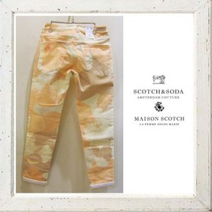 MAISON SCOTCH 花柄 綿パンツ Color:ORANGE(オレンジ)|angland|02