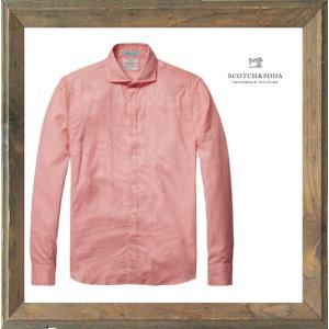 SCOTCH&SODA(スコッチ&ソーダ)シャンブレー 長袖コットンブラウス color:PINK(ピンク)|angland