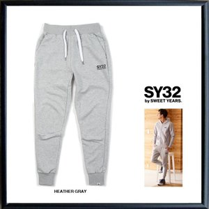 SY32 by SWEET YEARS ロゴ スウェットパンツ color:HEATHER GRAY(グレー)|angland