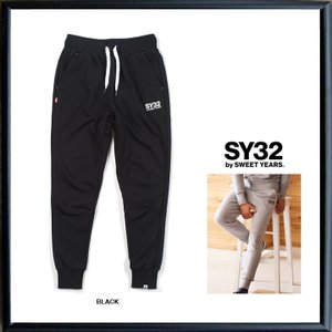 SY32 by SWEET YEARS ロゴ スウェットパンツ color:BLACK(ブラック)|angland