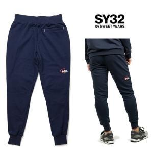 SY32 by SWEET YEARS ロゴ スウェットパンツ color:NAVY(ネイビー)|angland|02