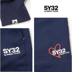 SY32 by SWEET YEARS ロゴ スウェットパンツ color:NAVY(ネイビー)|angland|04