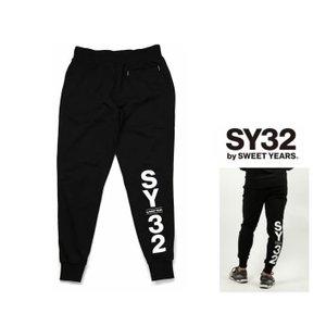 SY32 by SWEET YEARS BIGロゴ スェットパンツ color:BLACK(ブラック)|angland
