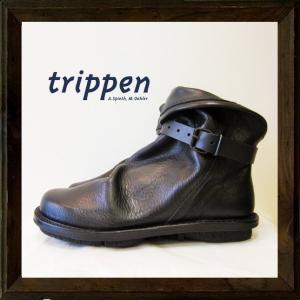 ★TRIPPEN 【 トリッペン 】MEN'S 【 BOMB 】 ボム・ストラップ・レザーショートブーツ color : 【 BLACK 】ブラック|angland