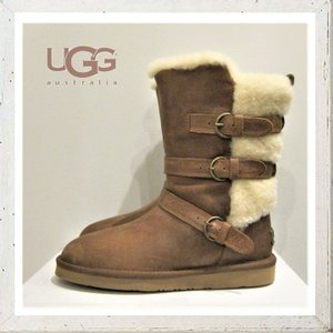 UGG(アグ) W BECKET バックルムートンブーツ color:CHE(チェスナット)|angland