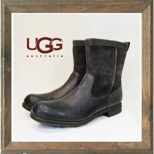 ★UGG(アグ)M LERETTO(レレット)レザーエンジニアブーツ color:STT(ダークブラウン)|angland