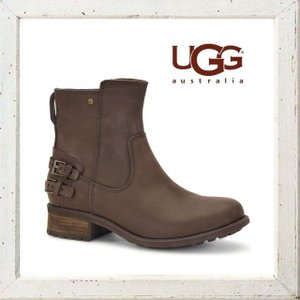 ★UGG(アグ)  W ORION レザー バックバックルブーツ COLOR:BROWN(ブラウン)|angland