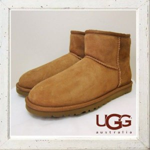 ★UGG Australia(アグ)MINI CLASSIC SHORT BOOTS ムートンショートブーツ color:CHE(チェストナット)|angland