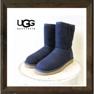 UGG(アグ) CLASSIC SHORT BOOTS ムートンショートブーツ color:NYV(ネイビー)|angland