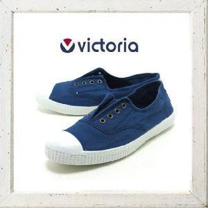 Victoria(ヴィクトリア) キャンバススニーカー color:MARINO(ネイビー)|angland