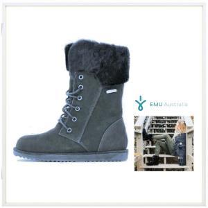 EMU Australia(エミュー オーストラリア) SHORELINE レースアップ ムートン ブーツ color:NVY(ネイビー)|angland